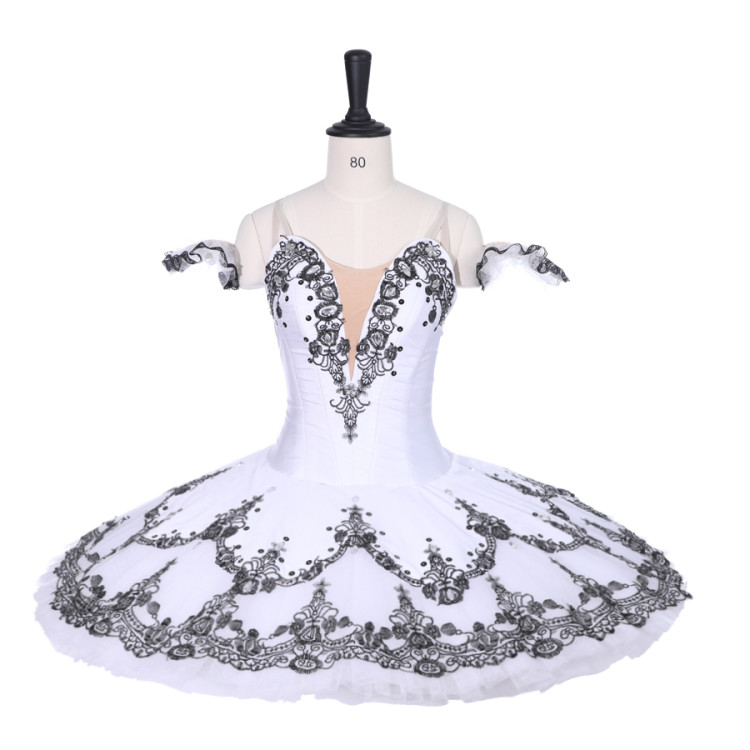 Adult Professional Ballet Tutu Girl Black White Harlequin Ballerina Pancake Tutu Women Performance Ballet Stage Tutu Nutcracker