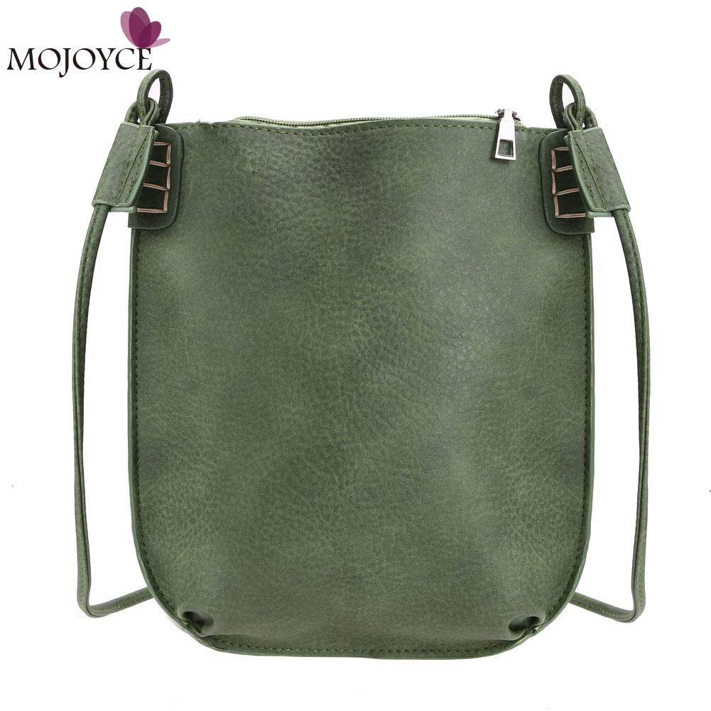 Retro Women Messenger Bag Ladies Mini Bucket Girls Handbag PU Leather Crossbody Bags for Female 2018 Shoulder Bag Bolsa Feminina barhee new stone pattern pu leather women messenger bag crossbody shoulder bags for girls luxury design alligator handbag female