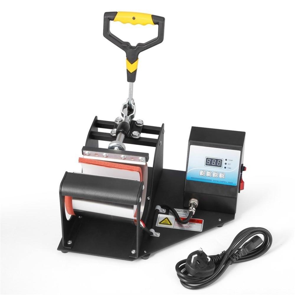 Mug Heat Press Machine Sublimation Printing Heavy Duty Durable Digital Temperature Control Adjustable Pressure Lever hot tools 1 pcs 38 38cm small heat press machine hp230a