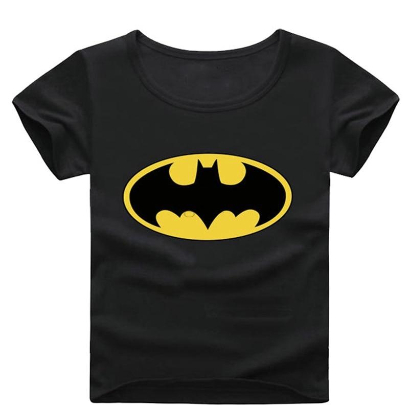 Batman Short Sleeve T Shirt Boys Clothes Spring Summer Boys kids Girls New Baby Shirt Children Clothing