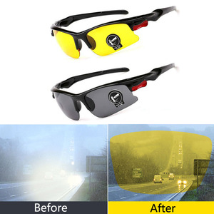 Car Night Vision Glasses Driver Goggles Polarizer Sunglasses For Hyundai solaris accent ix35 i20 elantra santa fe tucson getz(China)