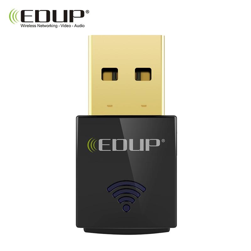 EDUP 600Mbps Mini Wireless USB WiFi Adapter 5Ghz 802.11ac Dual band Wi-Fi Receiver Support Windows Mac