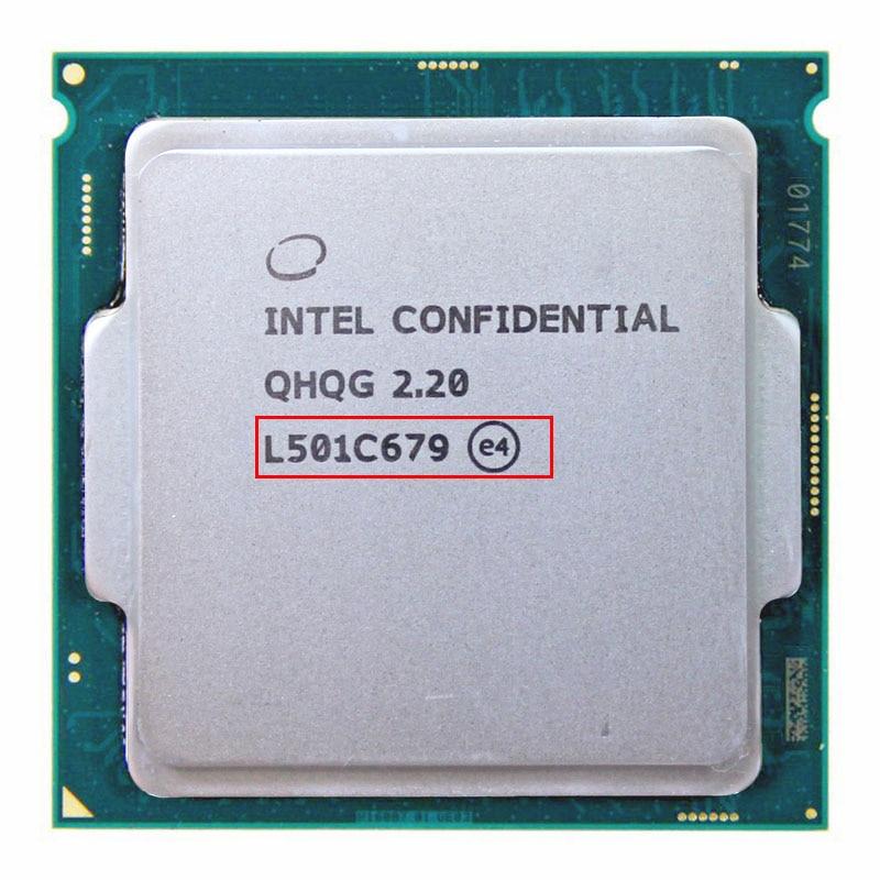 QHQG ES INTEL CORE I7 CPU 6400 l'overclocking I7 processeur I7-6700K I7 6700 6700K Q0 2.2MHZ 1151 8WAY HD530 DDR3L/DDR4
