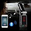 Carro mp3 player de áudio bluetooth fm kit mãos livres carro transmissor fm sem fio modulador lcd usb carregador para iphone samsung