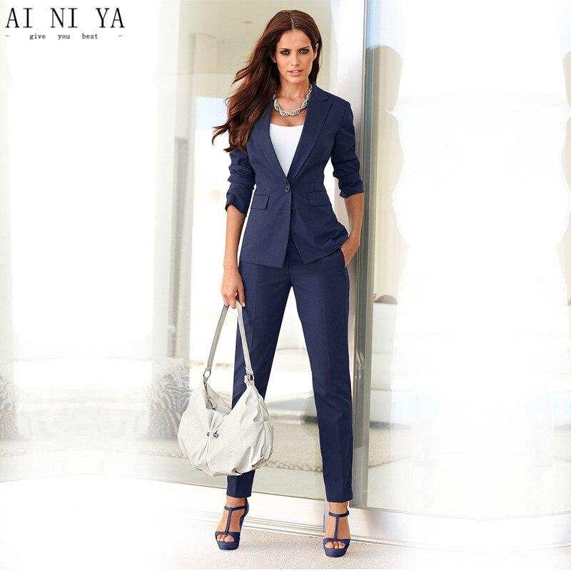 Vestiti Eleganti Donne.Donne Pant Abiti Eleganti Per Donna Ufficio Affari Tute Spedizione