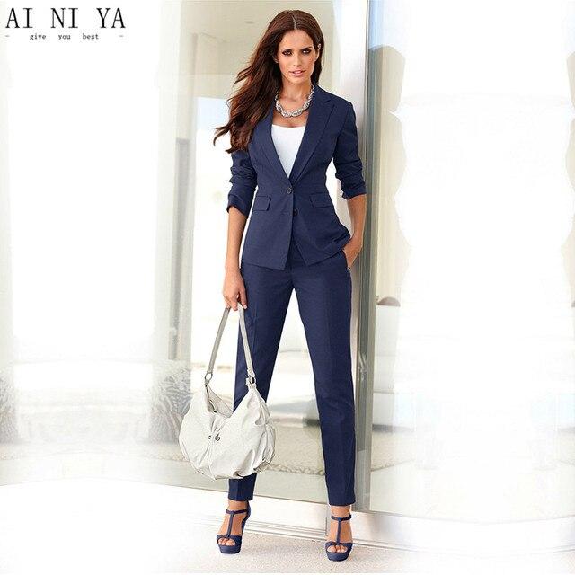 11862d8bb2d7 Donne Pant Abiti Eleganti Per Donna Ufficio Affari Tute spedizione Slim Fit  Custom Made Nuovo Stile