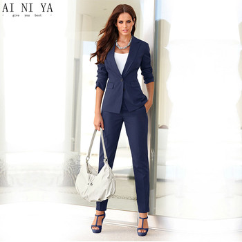 Women Pant Suits Formal  Ladies Office Business Suits Slim Fit Custom Made New Style Tuxedos