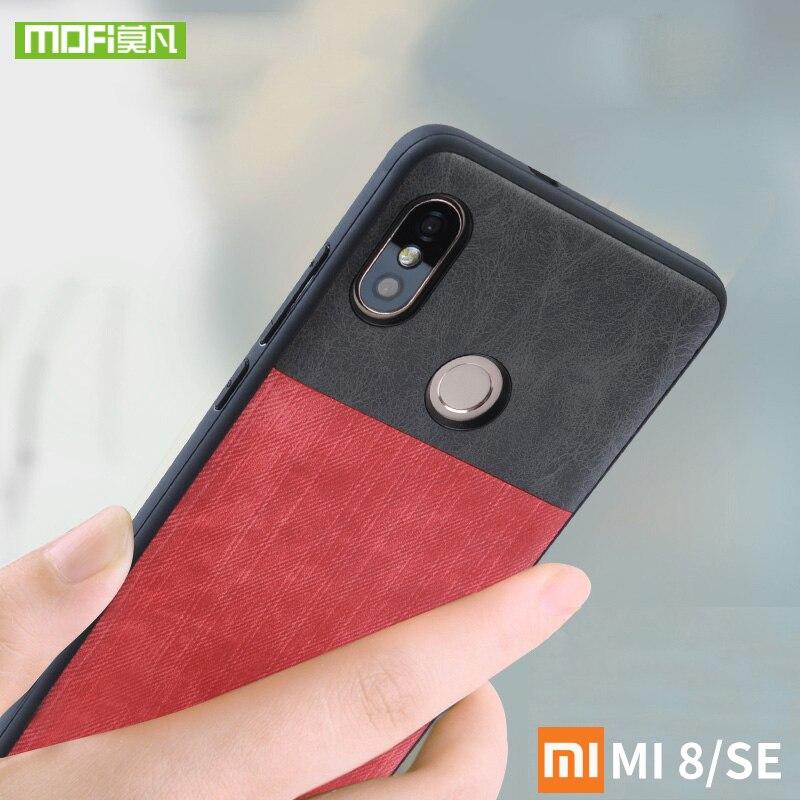 Pour Xiao mi mi 8 cas pour xiao mi Mi 8 se housse en silicone DOUX mi 8 mofi pour xiao mi mi 8 explorer case Antichoc jeans en cuir