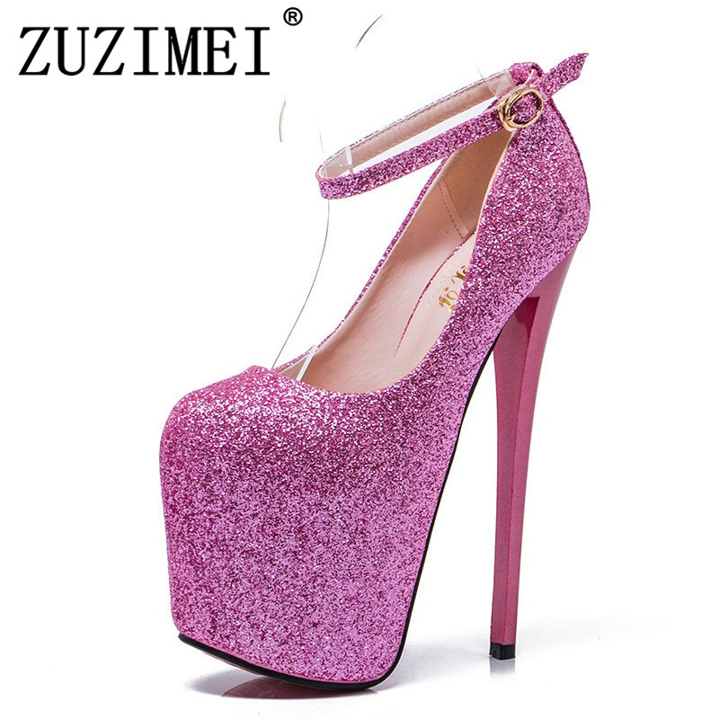 Big Size 35- 43 High Heels Women Sexy Super High Heel 20cm Platform  Nightclub Pumps 353796ef1cbd