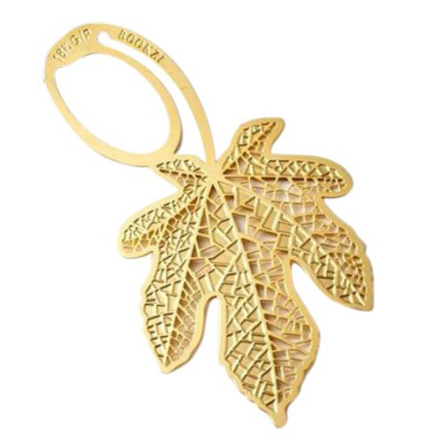 Gold Maple Leaf Bookmark Sheet Metal Gift Souvenir Book Reading Various Forms