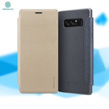 For Samsung Galaxy Note 8 Smart Flip galaxy Phone Cases NILLKIN Sparkle Leather Cover Super Thin Slim Phone Shell Magnetic