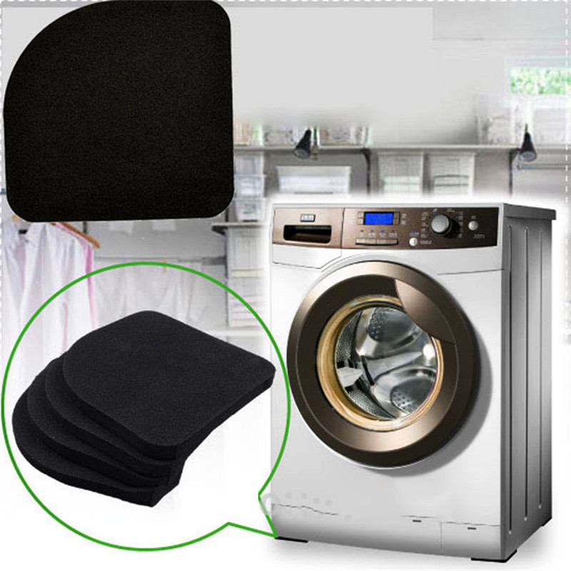 4Pcs Square Refrigerator Mute Mat Washing Machine Anti Vibration Pad Shock Pads ...