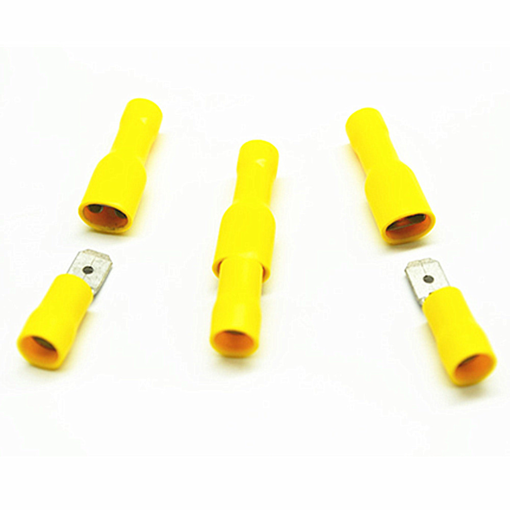Yellow Fully Insulated Female Spade Terminals Crimp Connector Male Tab Terminal