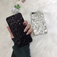 Luxury Electroplate Tin Foil Phone Case For iPhone 6 6s 7 8 Plus Cover Bags Silicone TPU Soft Back X case Fundas
