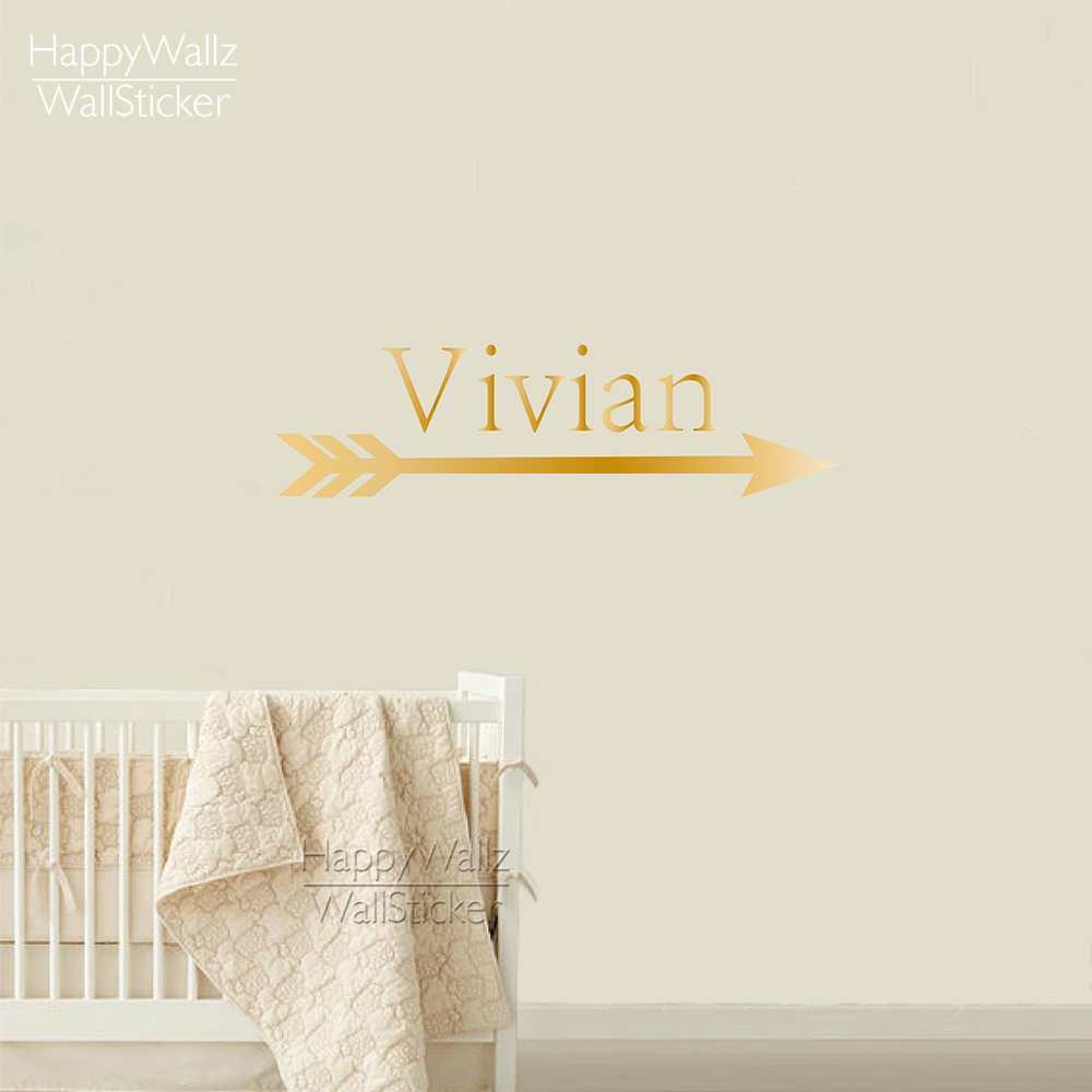 Nursery name wall stickers image collections home wall custom name wall sticker arrow wall decal baby nursery name wall custom name wall sticker arrow amipublicfo Choice Image