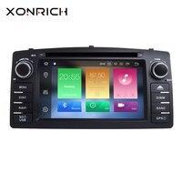 Xonrich 2 Din Android 8,0 радио Автомобильный мультимедийный плеер для BYD F3 Toyota Corolla E120 2000 2001 2002 2003 2004 2005 2006 gps DVD