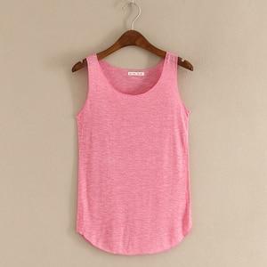 Image 3 - Gorące lato tank top fitness nowy T koszula Plus rozmiar luźny model damskiej podkoszulki bawełna O neck topy slim moda odzież damska