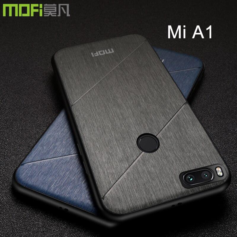 Xiaomi mi a1 cas couverture équipée Mofi d'origine complet protégez doux buiness style mi 5x5.5 un 1 couverture pj fundas xiaomi mi a1 cas