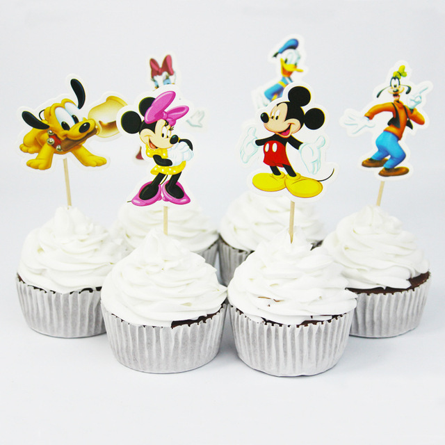 24pcs Set Mickey Mouse Baby Shower Birthday Party Decorations
