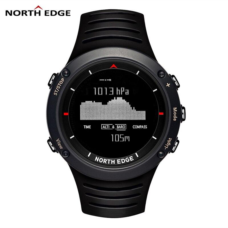 Digital Watches Barometer North-Edge Running Smart Compass Swimming Climbing Sport Men's