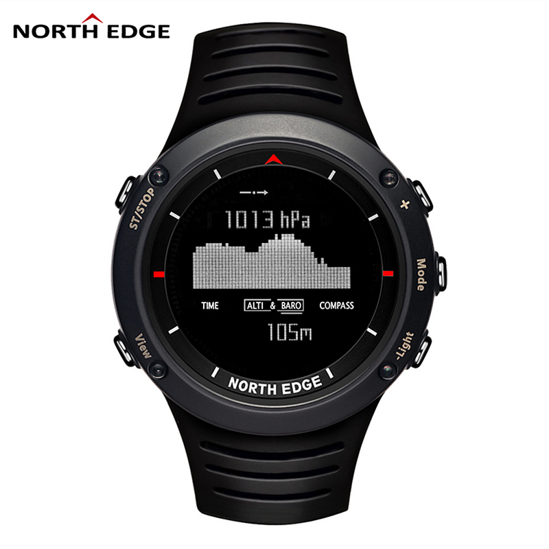 NORTH EDGE Brand Sport Men's watch Climbing Running Swimming Smart Digital Watches Men Altimeter Barometer Compass Reloj Hombre outdoor sports watches men skmei brand countdown led men s digital watch altimeter pressure compass thermometer reloj hombre
