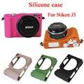 Nice saco camera case de proteção de borracha de silicone macio para nikon j5, 1 J5, caso Câmera saco Tampa Da Caixa Da Pele Do Corpo 1J5