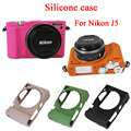 Niza caja de la cámara de silicona suave protectora de goma bolsa para nikon j5, 1 J5, 1J5 Cuerpo Piel Cubierta de La Caja caja de La Cámara bolsa
