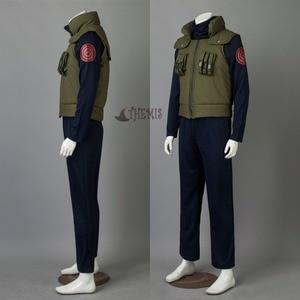 Image 5 - Anime Naruto Hatake Kakashi Cosplay Costume Halloween Clothes vest shirt pants  glove headband wig set custom made size