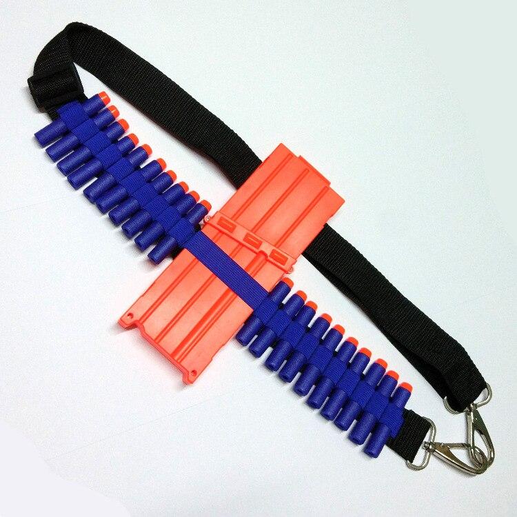 Синие детские игрушечный пистолет пуля плечевой ремень Дартс боеприпасы хранения держатель для nerf