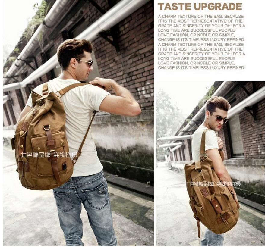 High Quality Men Backpack Zipper Solid Men's Travel BagsBackpacks Canvas Bag mochila masculina bolsa school bags