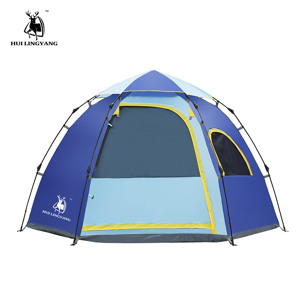 GAZELLE OUTDOOR camping tent 3-4 person Automatic quick opening family tent outdoor hexagonal large space waterproof tents gazelle outdoors зеленый 3 4