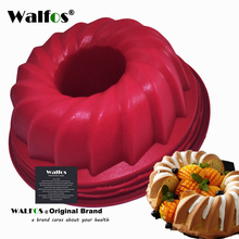 WALFOS  1Pc Swirl Bundt Cake Pan Chocolate Pastry Silicone Mold Round Bread Tin For Bakeware Tray Mould Tool