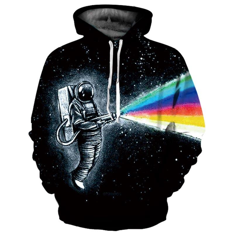 Headbook Brand Galaxy Hoodies Men/Women Thin Cool Fashion 3d Sweatshirts Print Astronaut Spraying Paint Hooded Hoodies YXQL607 корсет хот шейперс
