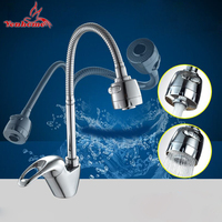 Free Shipping True Brass Kitchen Faucet Mixer Cold And Hot Water Kitchen Tap Sink Washing Single
