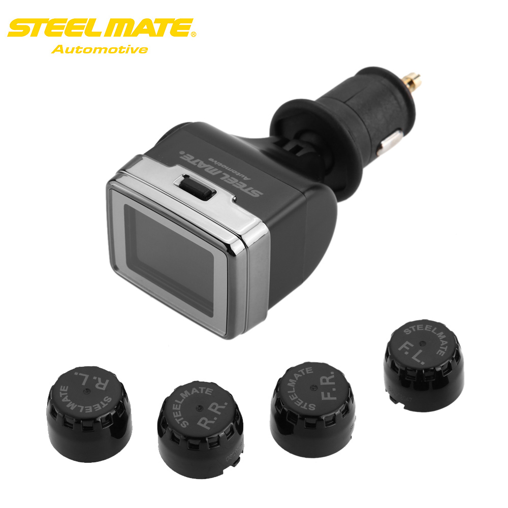 100% Original Steelmate TP-79 DIY Wireless TPMS Tire Pressure Monitor with Adjustable LCD Display 4 External Sensors PSI Unit steelmate tp 11 tpms tire pressure monitoring system lcd display 4 valve cap external sensors bar psi unit wireless transmission