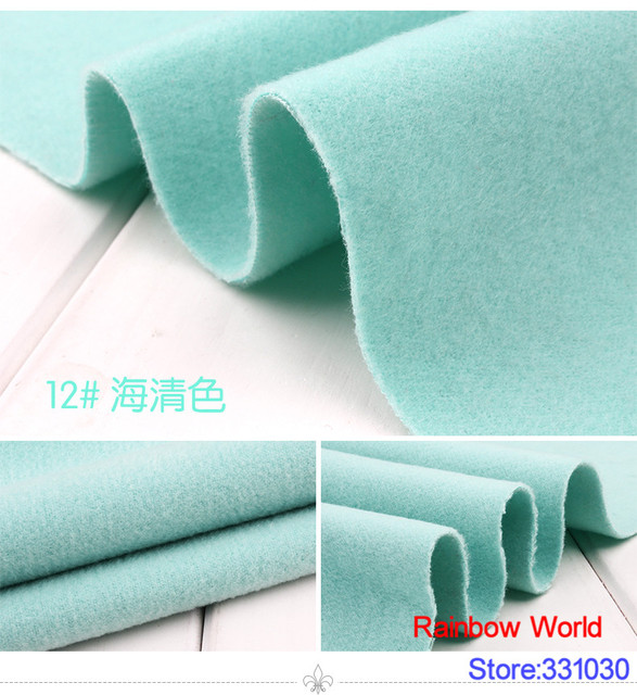 12 Light Blue 1 Meter Double Brushed Middle Thick Cloth Fabric For Diy Colthes Dress