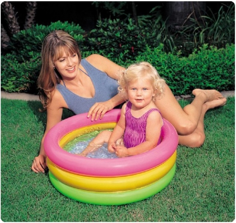 Bathroom INTEX Arpa Three Rings Baby Infant Inflatable Swimming ...