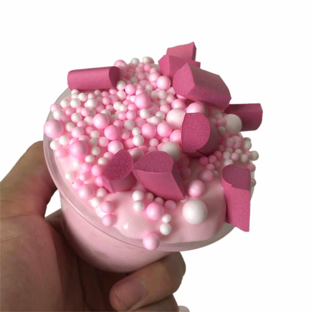 """Глина """"сделай сам"""" полимерная красочная смешивающая Хрустальная пышная слизь ароматизированный Пенящийся Детский пластилин игрушка 150 мл стройнит антистрессовые игрушки для детей"""