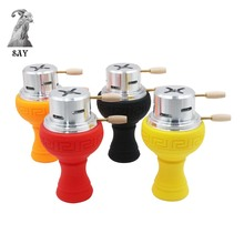 SY 1Set Shisha Hookah Bowl Silicon Porous Head Silicone Accessories and Metal Kaloud Charcoal Holder