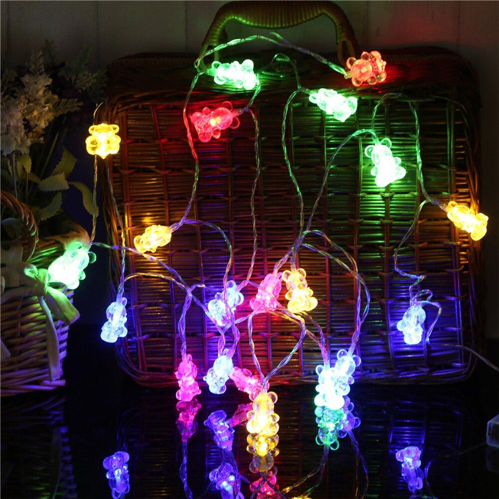 Fairy LightsBear String Light 1.5M-10M,10L/20L/40L/96L,3AA/31V US/EU Room Weding Party Wall Window Home Decoration Children Night Lamp