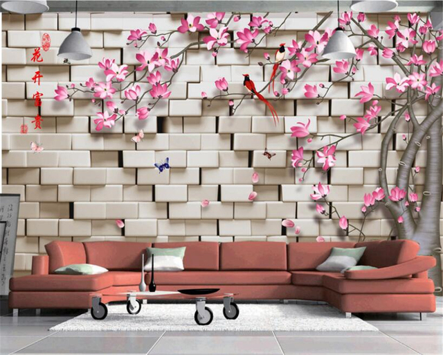 Beibehang 3d Wall Paper Flowers Floral Orchid Flower Photo Wallpaper