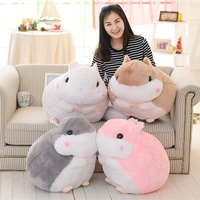 45cm 55cm Lovely Plush Hamster Toys Cute Stuffed SimulationToys Pink Gery Children's Day Gift Kids Doll Girls' Gift
