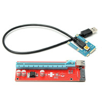 New USB 3 0 Mini PCI E Express 1x To 16x Extension Cable Extender Riser Card