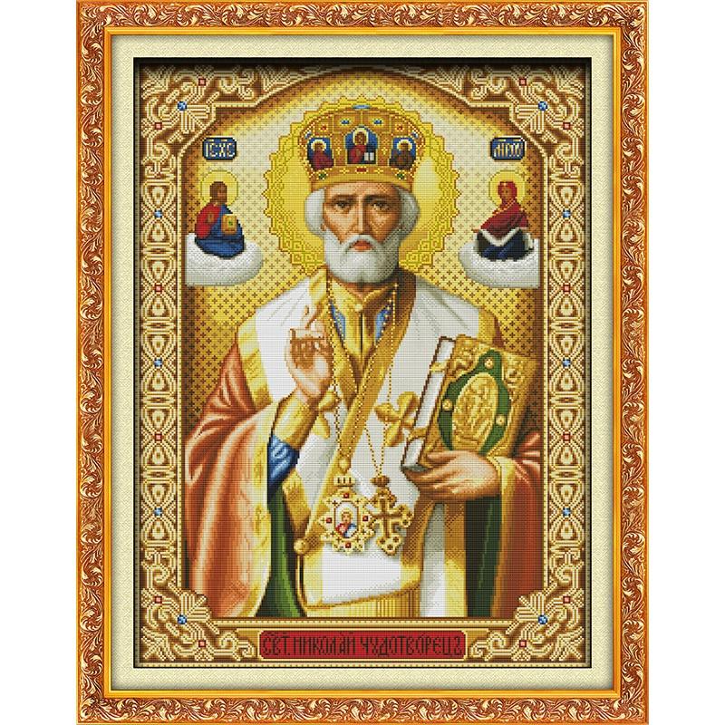 Amore eterno Papa Ecologico cotone A Punto Croce 11 CT e 14 CT timbrato prodotto Di vendite di Natale