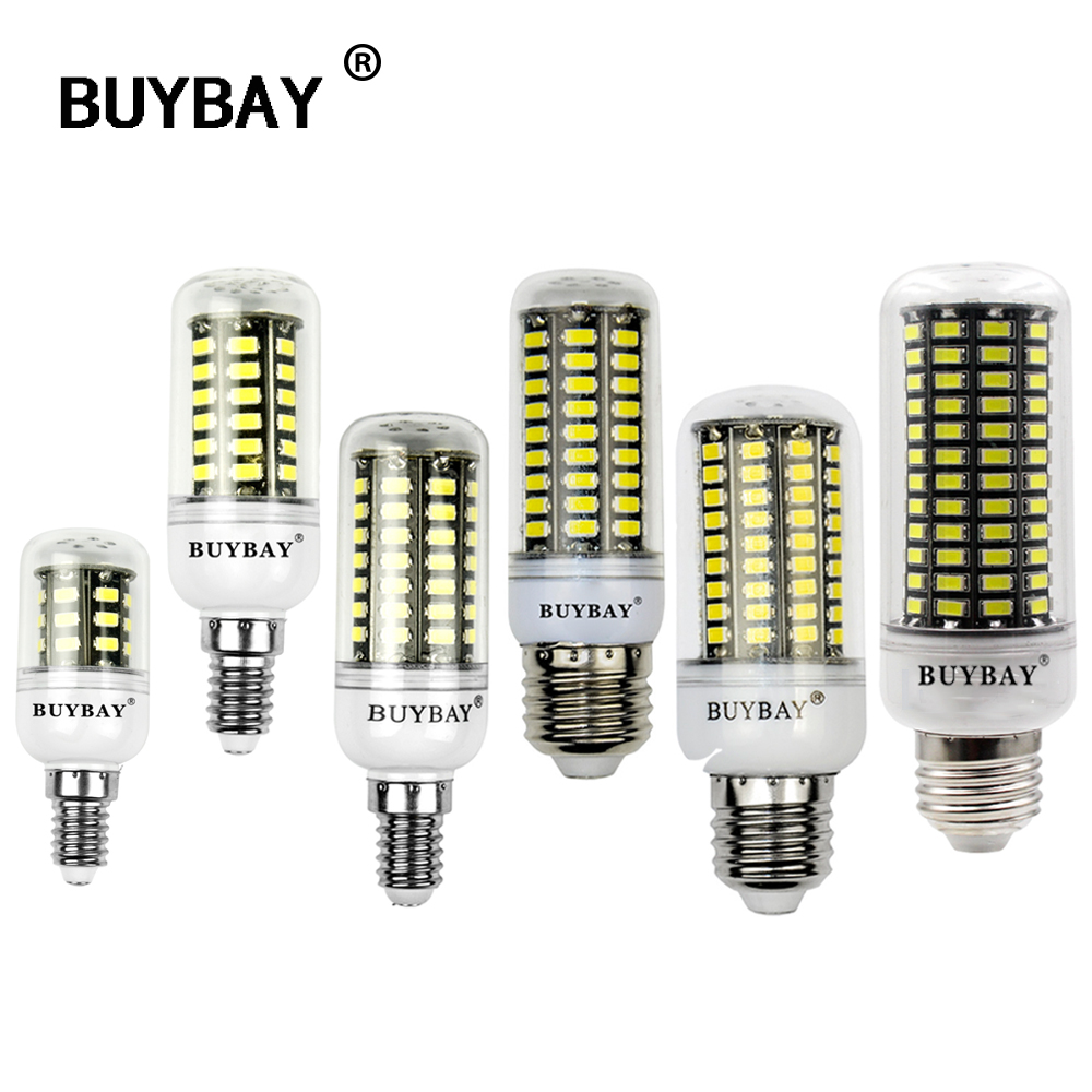 [BUYBAY] New SMD5736 LED light bulbs E27 E14 3w 4w 5w 7w 10W 12W led lamp AC85-265V built in smart IC safety bulb no flicker