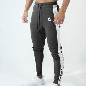 Image 2 - Мужские джоггеры, тренировочные штаны, тренировочные штаны для спортзала, фитнеса, на молнии, облегающие спортивные брюки до щиколотки, мужские брендовые штаны для мужчин