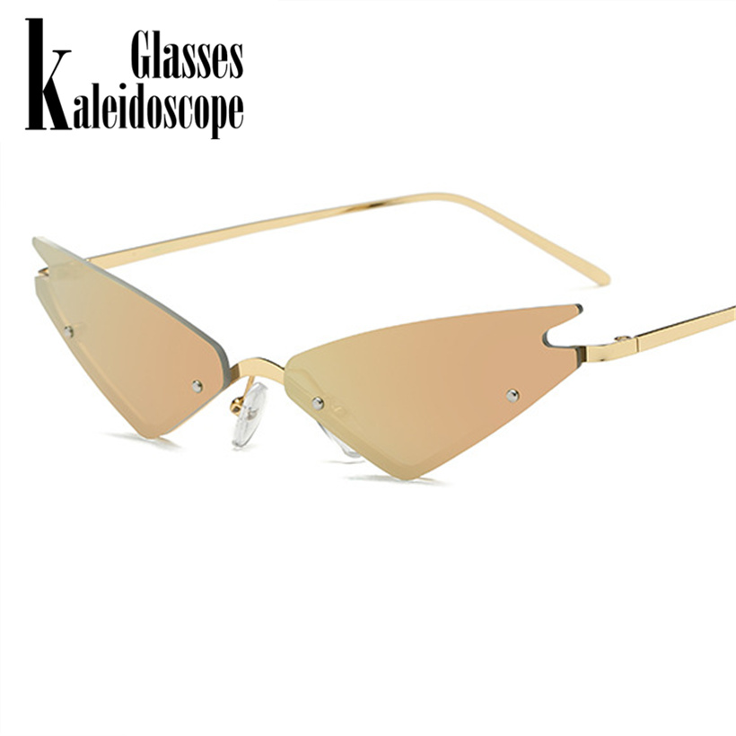 85809386ebe43 2018 Mulheres Olho de Gato Óculos De Sol De Luxo Grife Feminina óculos de sol  Óculos de Sol de Metal Moldura de Espelho Ladies Shades Eyewear gafas de sol