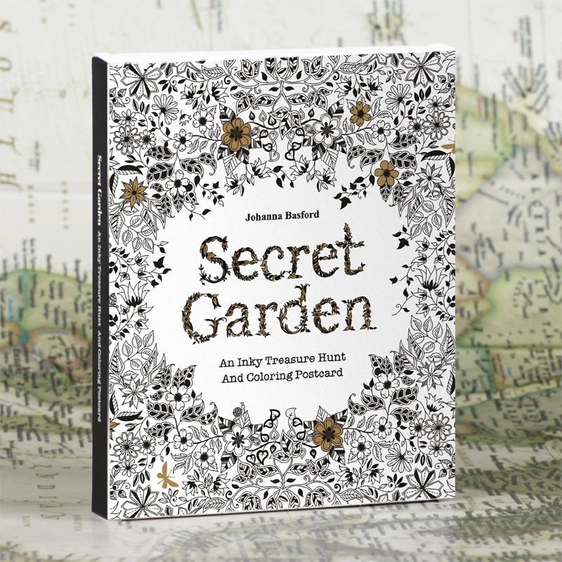 Английское издание секретный сад 30 лист(ов) раскраски карты Tintage открытки DIY живопись рисунок книга окраска книги