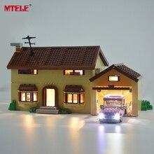 MTELE Kit de lumière Led pour 71006 Simpson ensemble de lumière de maison Compatible avec 16005 (ne comprend pas le modèle)