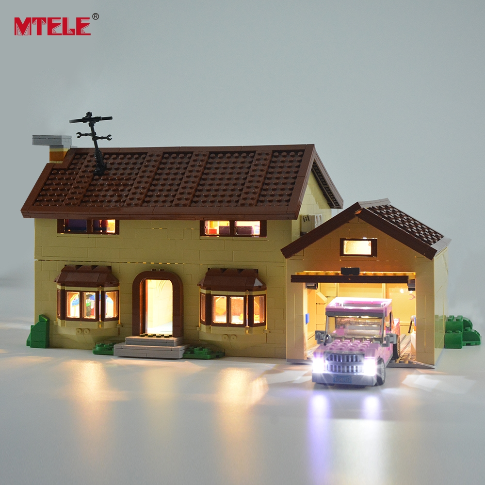 MTELE Led Light Kit For Simpson House  Light Set Compatible With 71006 (NOT Include The Model)